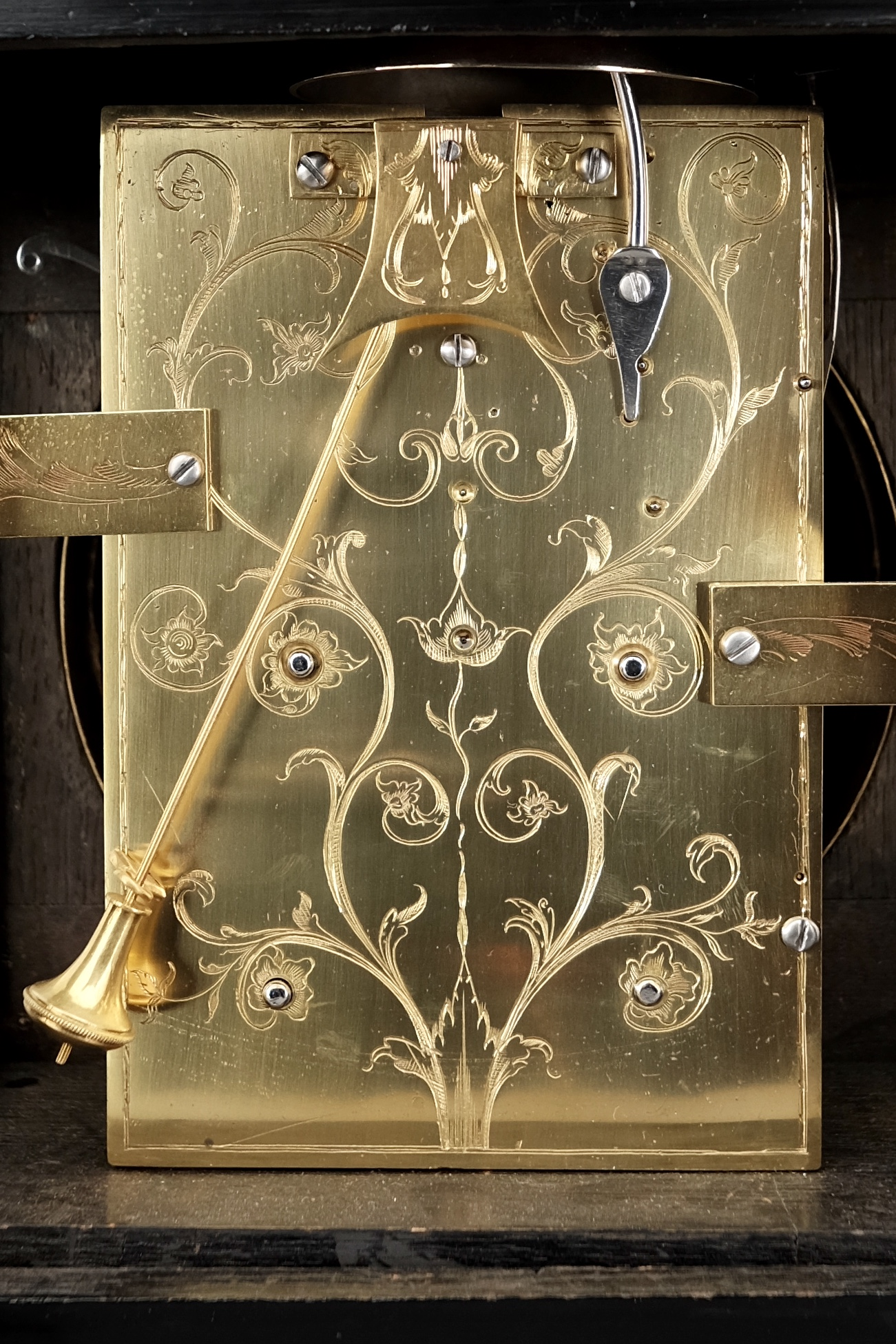 Detail of antique Georgian clock